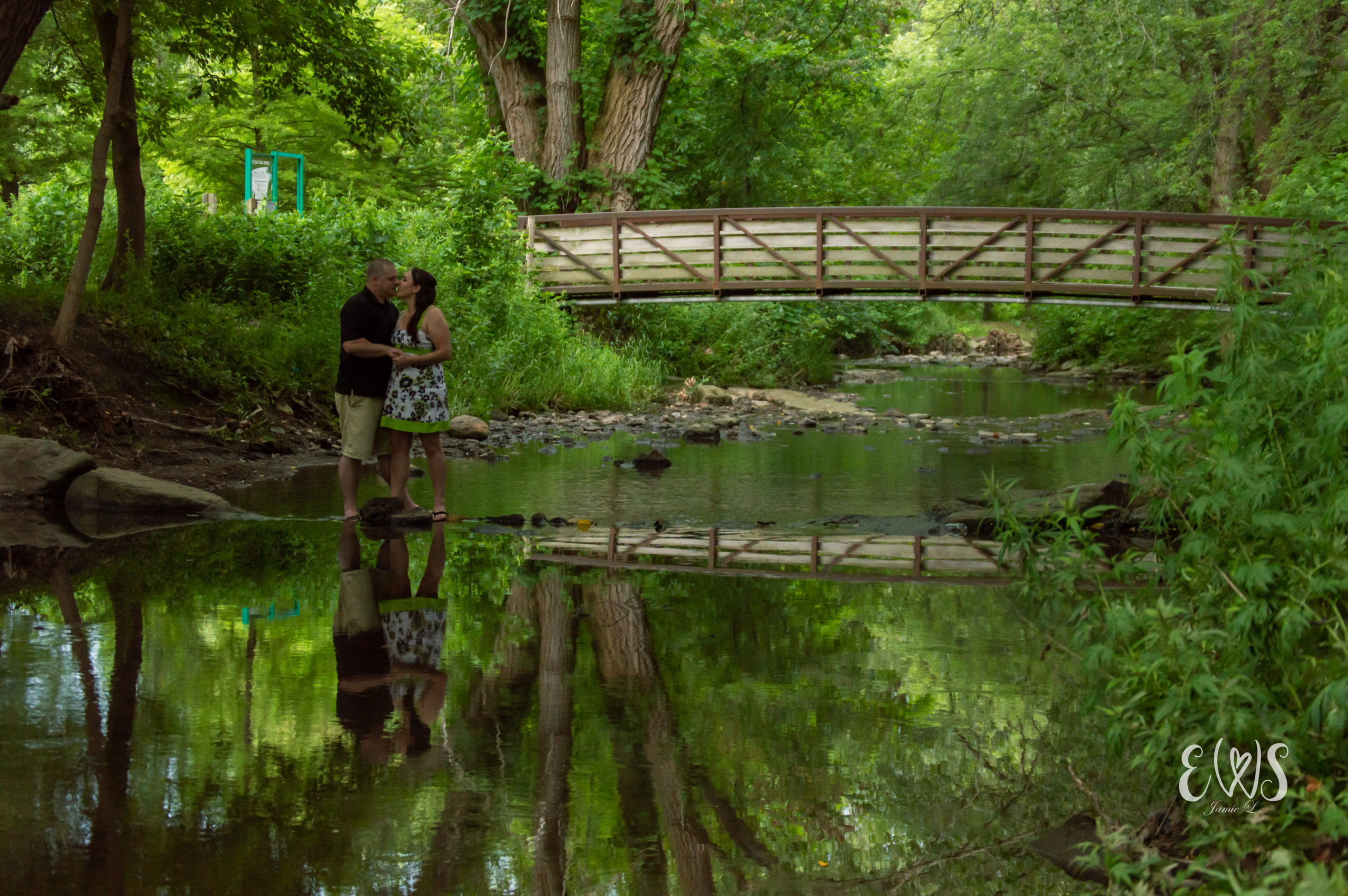 Creekside Engagement Photo